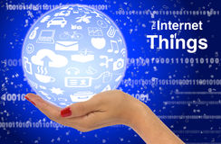 Internet of things concept illustration infographic Stock Image
