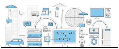 Internet of Things concept Royalty Free Stock Images