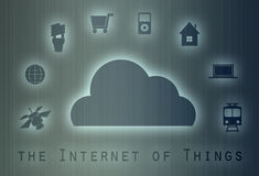 Internet of things concept. The Internet of Things (IoT) refers to uniquely identifiable objects and their virtual representations in an Internet-like structure Royalty Free Stock Photo