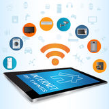 Internet of Things concept (IoT) and Tablet PC apps Royalty Free Stock Photos