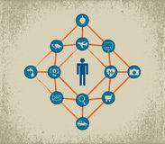 Internet of Things concept. royalty free illustration