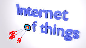 The internet of things cybersecurity concept Stock Photos