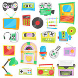 Internet of things, devices and connectivity concepts on a network, cloud at center Royalty Free Stock Images