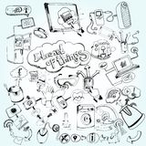 Internet Of Things Doodles Stock Image