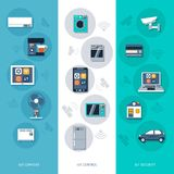 Internet of things flat banners set Royalty Free Stock Photography