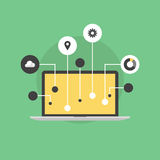 Internet of things flat icon illustration Royalty Free Stock Images