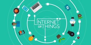 Internet of Things flat iconic illustration Stock Photo