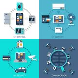 Internet of things flat icons composition Stock Photo