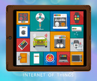 Internet of things flat icons set Royalty Free Stock Photography