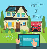 Internet of things at home Royalty Free Stock Photos