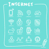 Internet of things icon set Royalty Free Stock Photos