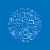 Internet of things icons set. Internet of things linear icons set Stock Photography