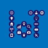 Internet of things illustration. Internet of things  illustration Stock Image