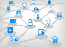 Internet of Things,  illustration with connected devices. Stock Photography