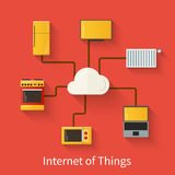 Internet of things illustration Royalty Free Stock Image