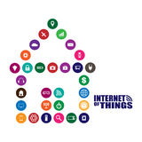 Internet of things illustration. Internet of things and smart home illustration Stock Photos