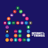Internet of things illustration. Internet of things and smart home illustration Stock Image