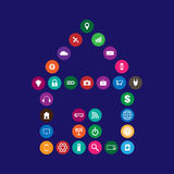 Internet of things illustration. Internet of things and smart home illustration Stock Images