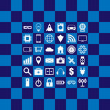 Internet of things illustration. Internet of things square illustration Stock Images