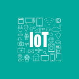 Internet of things illustration. Internet of things vector illustration Stock Photo