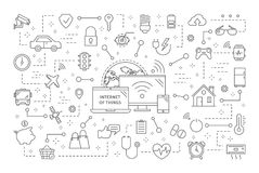Internet of things. Wireless connection between devices Stock Photography