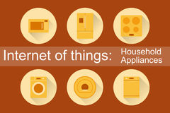 Internet of Things, IoT. Household Appliances Royalty Free Stock Image