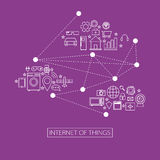 Internet of things (IoT) illustration. Vector Royalty Free Stock Photo