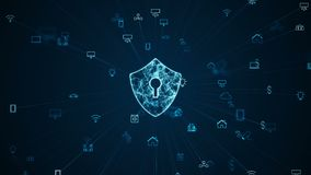 Internet Of Things IOT And Security Concept.