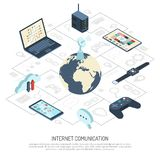 Internet Of Things Isometric Composition stock illustration