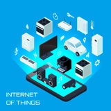 Internet Of Things Isometric Design Concept Stock Image