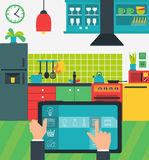 Internet of things in the kitchen Royalty Free Stock Photos