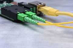 Internet Of Things Optical Fiber Converter, Information Technology. Copy Space Stock Image