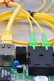 Internet Of Things Optical Fiber Converter Stock Photo