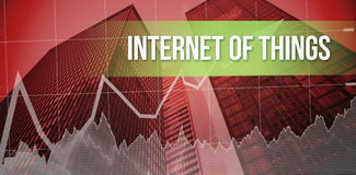 Internet of things with red background Royalty Free Stock Photo