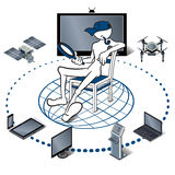 Internet of things. Represented by consumer and connected devices as isometric vector illustration Stock Photo
