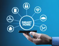 Internet of things. Smart home automation concept royalty free stock image