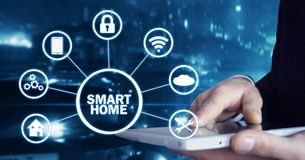 Internet of things. Smart home automation concept royalty free stock photos