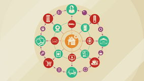 Internet Of Things and Smart Home Concept royalty free illustration