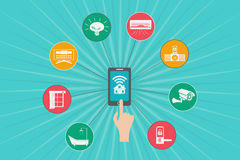 Internet of Things and smart home concept. royalty free illustration