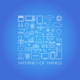 Internet of things and smart home illustration. Vector Royalty Free Stock Photos