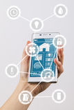 Internet of things smartphone Royalty Free Stock Photography