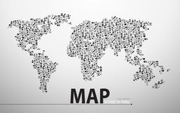 Internet of things technology map icon structure design background Stock Images