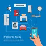 Internet of Things vector concept illustration in flat design stock illustration