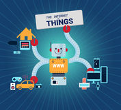 The Internet of Things vector illustration. Royalty Free Stock Images