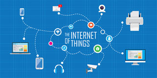 Internet of things. Vector illustration concept Royalty Free Stock Images