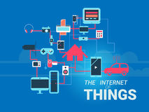The Internet of Things vector illustration. Royalty Free Stock Photo