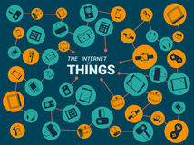 The Internet of Things vector illustration. Royalty Free Stock Photos
