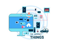 The Internet of Things vector illustration. Stock Photo
