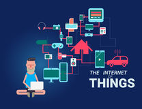 The Internet of Things vector illustration. Stock Images
