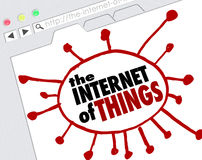 The Internet of Things Website Browser Screen Online Network Co Royalty Free Stock Photos